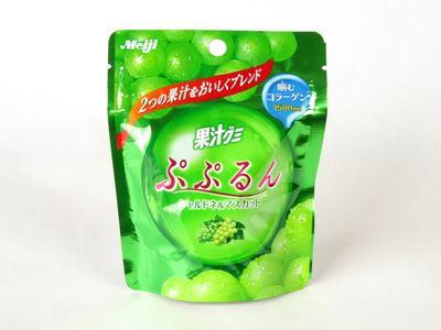 Meiji--果汁グミ ぷぷるん シャルドネ&マスカット。