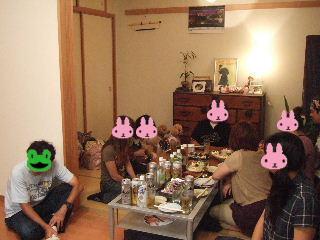 ぶーたん邸で宴会だ~