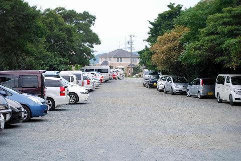 イモウ湿原の駐車場