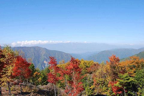 木曽山脈の景観