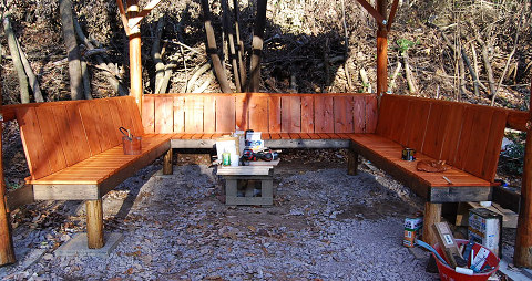 塗装した椅子