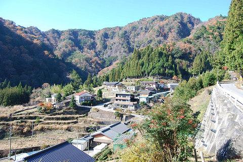 急峻な山の集落
