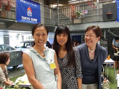 南村さん、私、金田さんとパチリ