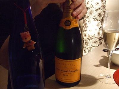 3本目のシャンパン