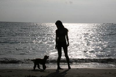09年夏 一色海岸にて