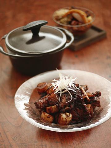 バルサミコ酢豚&水無し白菜鍋