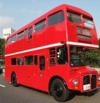 こちらがラッピング前のロンドンバス