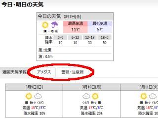 天気情報取得ページ
