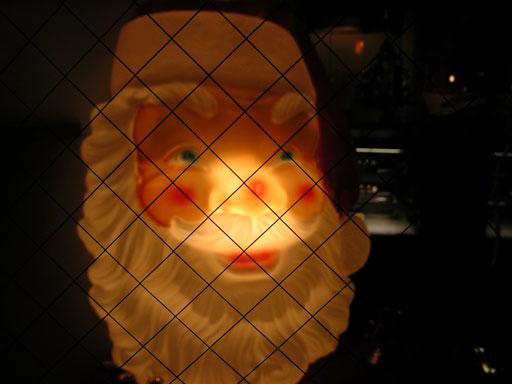 中心を光らせると鼻が光ります