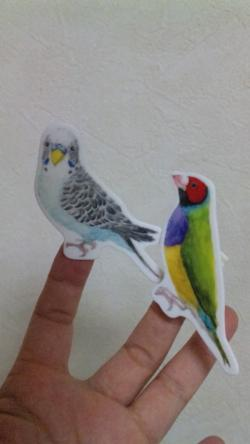 かわいい鳥さんクリップ