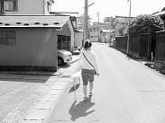 シロとお散歩