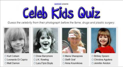 Celeb Kids Quiz