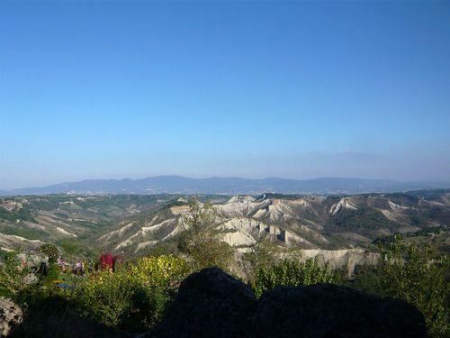 チヴィタからの景色