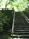 横に水の流れる階段