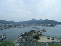 皇子神社からの景色・五剣山側