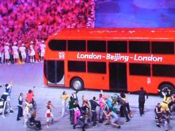 ロンドン行きのバス