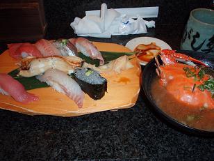 お寿司(ちょっと食べちゃった)