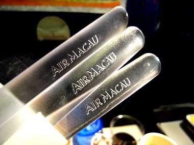 マカオ航空 機内食カトラリー