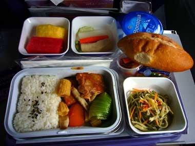 マカオ→関空 機内食1