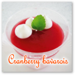 クランベリージュースで作るババロア