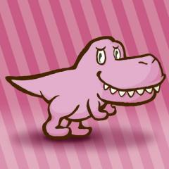 ピンクの恐竜