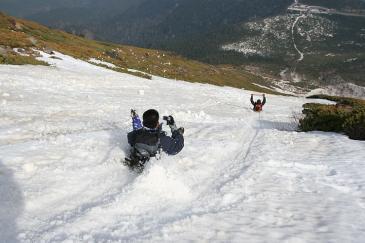 御岳山2009年5月10日 シリセードおじさんず