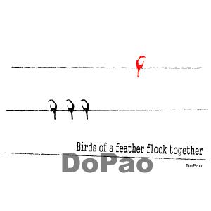 4羽の小鳥 オリジナルデザイン