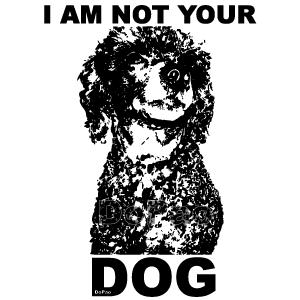 Not Your Dog あなたの犬じゃない プードル リジナルデザイン