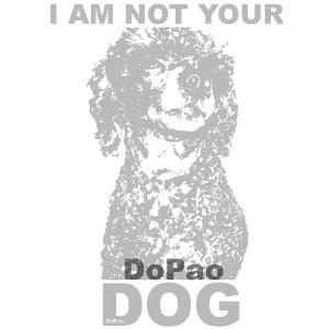 Not Your Dog Gray あなたの犬じゃない プードル オリジナルデザイン