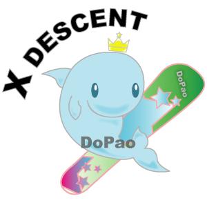X Descent エックス・ディセント イルカのスノーボーダー オリジナルデザイン