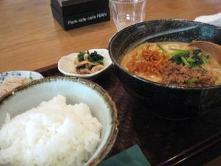 坦々麺定食