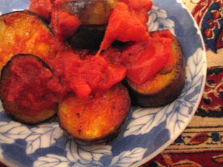 茄子トマト炒め