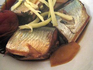 秋刀魚の梅煮(アップ)