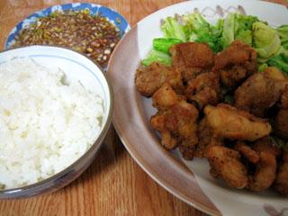 鶏の唐揚げ(特製ネギダレ付き)
