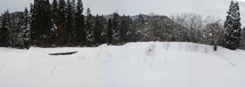 新潟 雪景色 山の風景