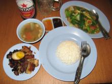 シオバ定食とチャプチャイ