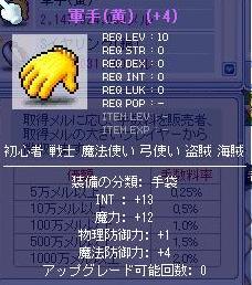 軍手INT13魔力12