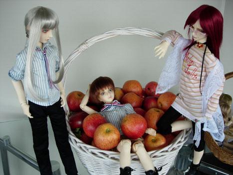 りんごと3人