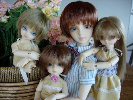 紫乃と幼っ子3人