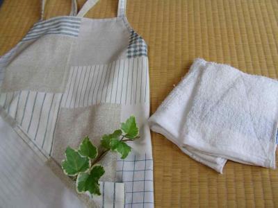 エプロンと雑巾