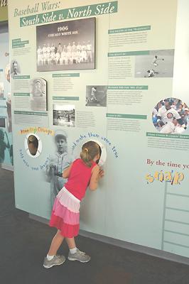 シアーズタワー メジャーの野球の画像を見る女の子