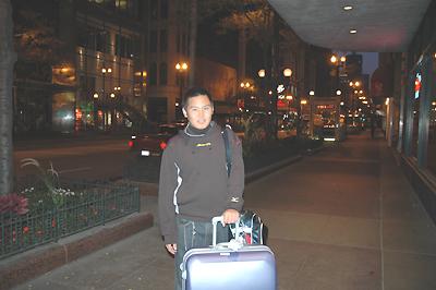 シカゴの早朝 ホテルを出たところ