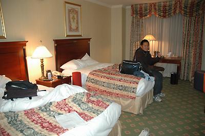 三日間御世話になったパーマーハウスヒルトンの部屋