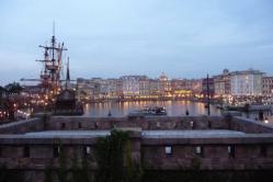 夕暮れ時の Disney SEA