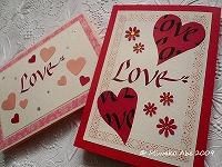 200902_カリグラフィー_バレンタインカード