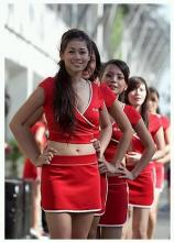 シンガポールGPを彩る美女達?