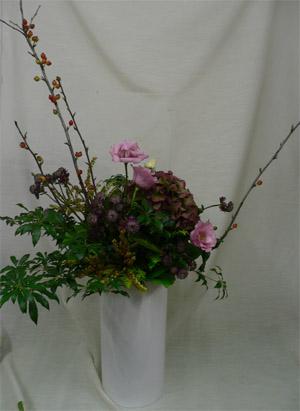 ブログ用秋色花束