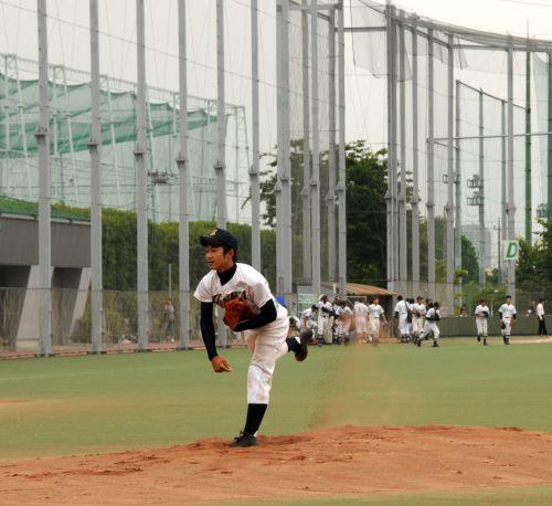 先発投手の力投