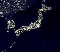 世界の夜間撮 影経済力の差