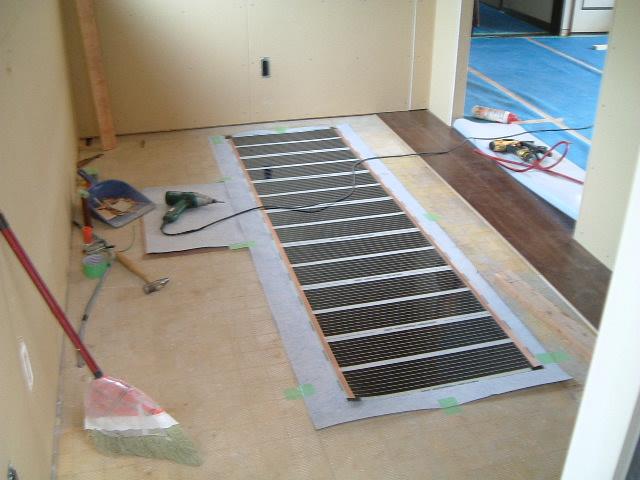 床暖房システム(流し台前)